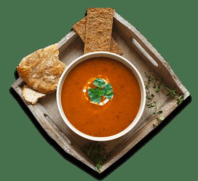 zuppa cremosa ai fagioli