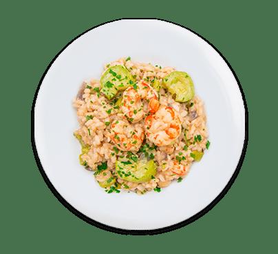 risotto gamberi e zucchine