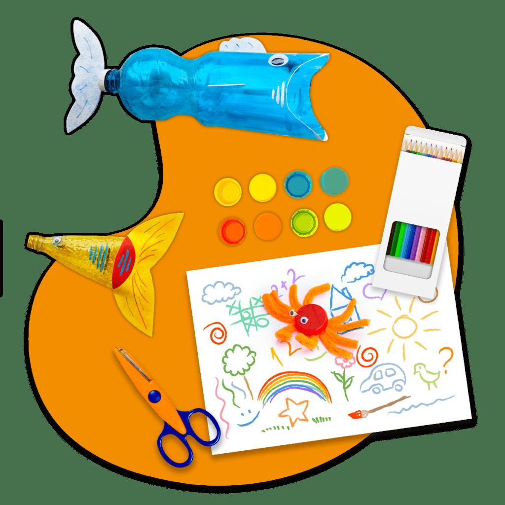 Forme e colori del riciclo