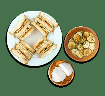 Torta fredda con zucchine, prosciutto e mozzarella