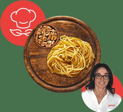 Stringotti con pesto di noci Alessandra da Forlì