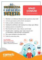 SPAZI COMUNI: scarica la locandina dedicata alle regole da seguire all'interno degli spazi comuni e appendila nelle aree condivise (spazi mensa / spogliatoi / corridoi / uffici condivisi).